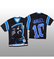 NFL Carolina Panthers 10 Curtis Samuel Black Men Mitchell  26 Nell Big Face Fashion Limited NFL Jersey