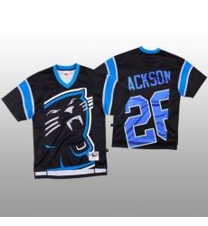 NFL Carolina Panthers 26 Donte Jackson Black Men Mitchell  26 Nell Big Face Fashion Limited NFL Jersey