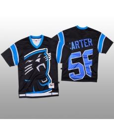 NFL Carolina Panthers 56 Jermaine Carter Black Men Mitchell  26 Nell Big Face Fashion Limited NFL Jersey