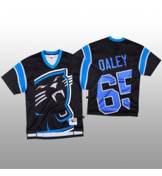 NFL Carolina Panthers 65 Dennis Daley Black Men Mitchell  26 Nell Big Face Fashion Limited NFL Jersey