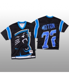 NFL Carolina Panthers 72 Taylor Moton Black Men Mitchell  26 Nell Big Face Fashion Limited NFL Jersey