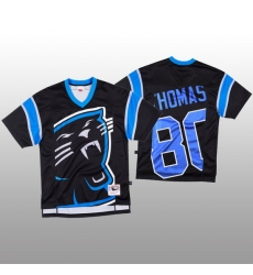 NFL Carolina Panthers 80 Ian Thomas Black Men Mitchell  26 Nell Big Face Fashion Limited NFL Jersey