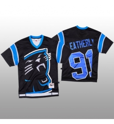 NFL Carolina Panthers 91 Stephen Weatherly Black Men Mitchell  26 Nell Big Face Fashion Limited NFL Jersey
