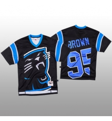 NFL Carolina Panthers 95 Derrick Brown Black Men Mitchell  26 Nell Big Face Fashion Limited NFL Jersey