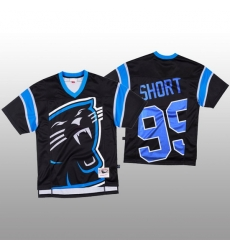 NFL Carolina Panthers 99 Kawann Short Black Men Mitchell  26 Nell Big Face Fashion Limited NFL Jersey