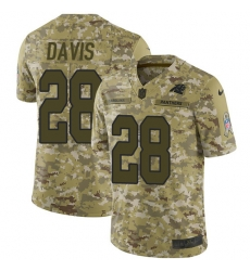 Nike Carolina Panthers 28 Mike Davis Camo Men Stitched NFL Limited 2018 Salute To Service Jersey