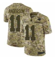 Nike Panthers 11 Robby Anderson Camo Men Stitched NFL Limited 2018 Salute To Service Jersey