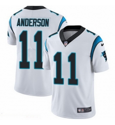 Nike Panthers 11 Robby Anderson White Men Stitched NFL Vapor Untouchable Limited Jersey