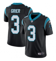 Nike Panthers 3 Will Grier Black Team Color Men Stitched NFL Vapor Untouchable Limited Jersey