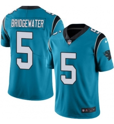 Nike Panthers 5 Teddy Bridgewater Blue Alternate Men Stitched NFL Vapor Untouchable Limited Jersey