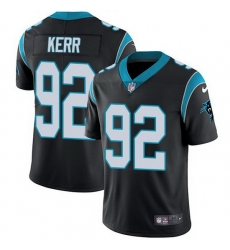 Nike Panthers 92 Zach Kerr Black Team Color Men Stitched NFL Vapor Untouchable Limited Jersey