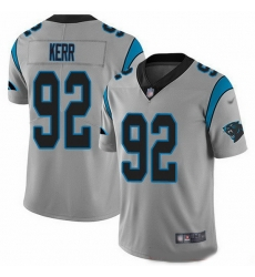 Nike Panthers 92 Zach Kerr Silver Men Stitched NFL Limited Inverted Legend Jersey