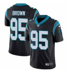 Nike Panthers 95 Derrick Brown Black Team Color Men Stitched NFL Vapor Untouchable Limited Jersey