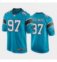 men yetur gross matos carolina panthers blue game jersey