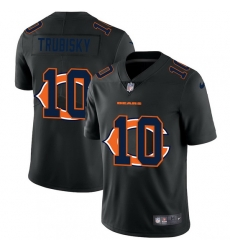 Chicago Bears 10 Mitchell Trubisky Men Nike Team Logo Dual Overlap Limited NFL Jersey Black