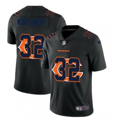 Chicago Bears 32 David Montgomery Men Nike Team Logo Dual Overlap Limited NFL Jersey Black
