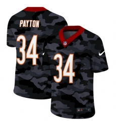 Chicago Bears 34 Walter Payton Men Nike 2020 Black CAMO Vapor Untouchable Limited Stitched NFL Jersey