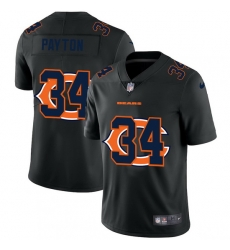 Chicago Bears 34 Walter Payton Men Nike Team Logo Dual Overlap Limited NFL Jersey Black