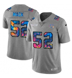 Chicago Bears 52 Khalil Mack Men Nike Multi Color 2020 NFL Crucial Catch NFL Jersey Greyheather