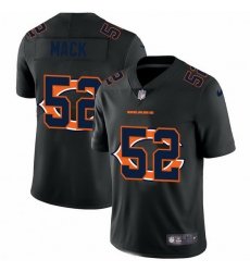 Chicago Bears 52 Khalil Mack Men Nike Team Logo Dual Overlap Limited NFL Jersey Black