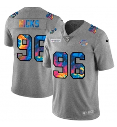 Chicago Bears 96 Akiem Hicks Men Nike Multi Color 2020 NFL Crucial Catch NFL Jersey Greyheather