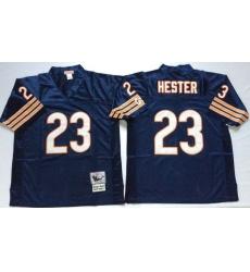 Men Chicago Bears 23 Devin Hester Navy M&N Throwback Jersey