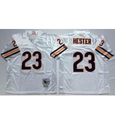 Men Chicago Bears 23 Devin Hester White M&N Throwback Jersey