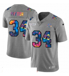 Men Chicago Bears 34 Walter Payton Men Nike Multi Color 2020 NFL Crucial Catch NFL Jersey Greyheather