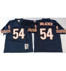 Men Chicago Bears 54 Brian Urlacher Navy M&N 1985 Throwback Jersey
