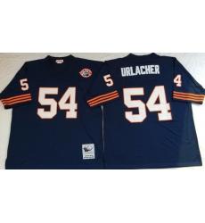 Men Chicago Bears 54 Brian Urlacher Navy M&N Throwback Jersey