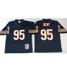 Men Chicago Bears 95 Richard Dent Navy M&N Throwback Jersey