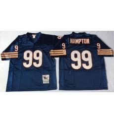Men Chicago Bears 99 Dan Hampton Navy M&N 1985 Throwback Jersey