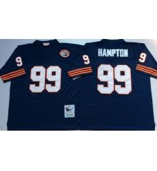 Men Chicago Bears 99 Dan Hampton Navy M&N Throwback Jersey
