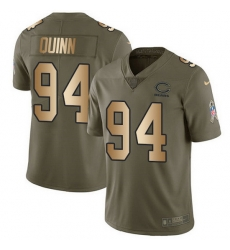 Nike Bears 94 Robert Quinn Olive Gold Men Stitched NFL Limited 2017 Salute To Service Jersey