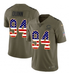 Nike Bears 94 Robert Quinn Olive USA Flag Men Stitched NFL Limited 2017 Salute To Service Jersey