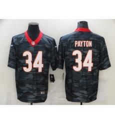 Nike Chicago Bears 34 Walter Payton Black Camo Limited Jersey