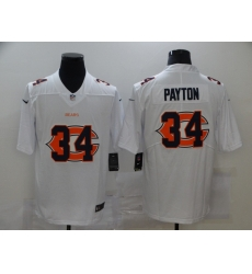 Nike Chicago Bears 34 Walter Payton White Shadow Logo Limited Jersey