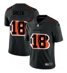 Cincinnati Bengals 18 A J  Green Men Nike Team Logo Dual Overlap Limited NFL Jersey Black