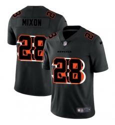 Cincinnati Bengals 28 Joe Mixon Men Nike Team Logo Dual Overlap Limited NFL Jersey Black