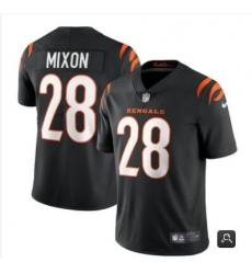 Men Cincinnati Bengals #28 Joe Mixon 2021 Black Vapor Limited Stitched NFL Jersey