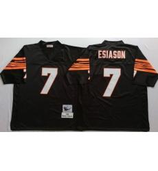 Men Cincinnati Bengals 7 Boomer Esiason Black M&N Throwback Jersey
