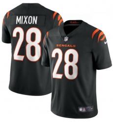 Men Nike Cincinnati Bengals 28 Joe Mixon Black Vapor Limited Jersey