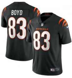 Men Nike Cincinnati Bengals 83 Tyler Boyd Black Vapor Limited Jersey