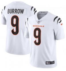 Men Nike Cincinnati Bengals 9 Joe Burrow White Vapor Limited Jersey