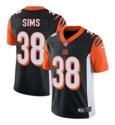 Nike Bengals 38 LeShaun Sims Black Team Color Men Stitched NFL Vapor Untouchable Limited Jersey