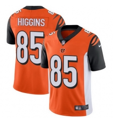 Nike Bengals 85 Tee Higgins Orange Alternate Men Stitched NFL Vapor Untouchable Limited Jersey