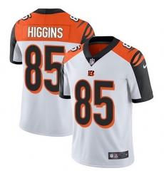 Nike Bengals 85 Tee Higgins White Men Stitched NFL Vapor Untouchable Limited Jersey