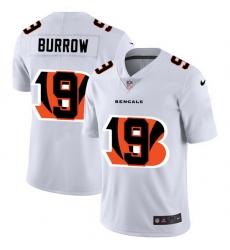 Nike Bengals 9 Joe Burrow White Shadow Logo Limited Jersey