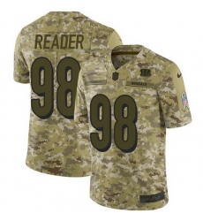 Nike Bengals 98 D J  Reader Camo Men Stitched NFL Limited 2018 Salute To Service Jersey