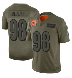 Nike Bengals 98 D J  Reader Camo Men Stitched NFL Limited 2019 Salute To Service Jersey